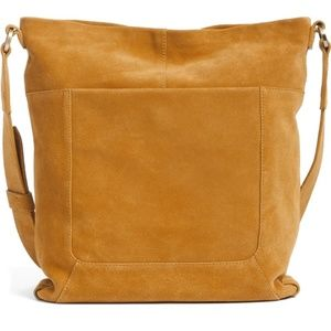 New HOBO Reghan Suede Crossbody Bag